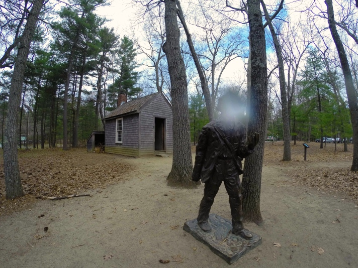 Statue of Thoreau at Walden