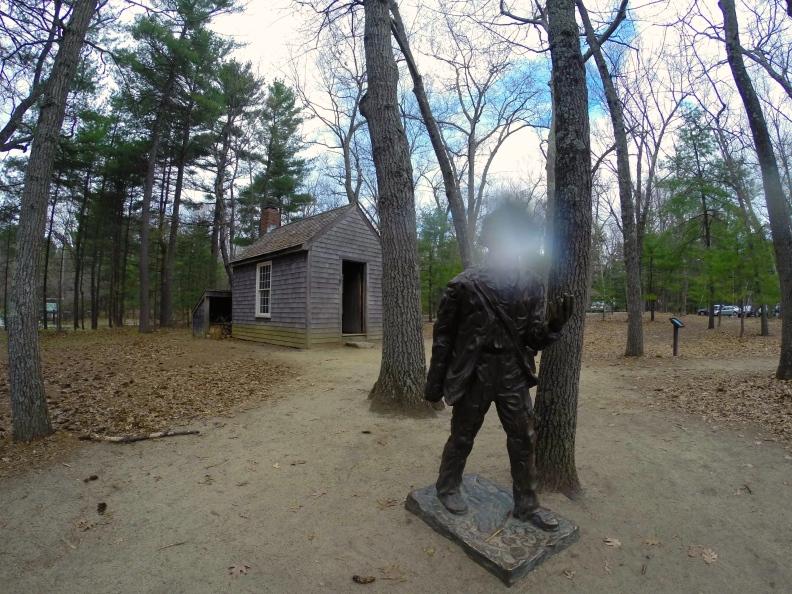 Statue of Thoreau at Walden