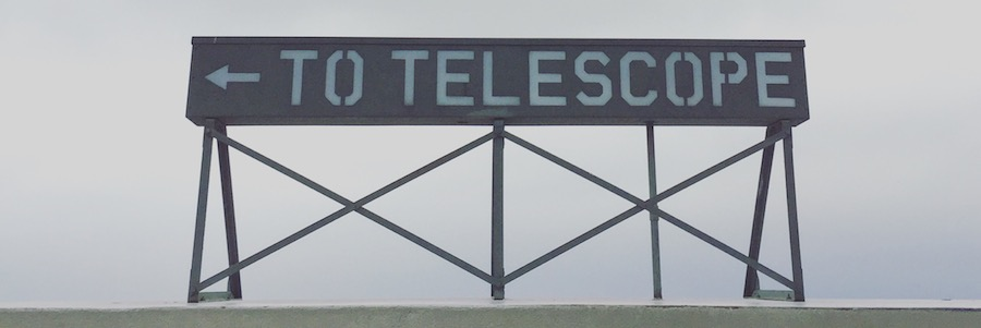 Telescope Sign at Getty Observatory