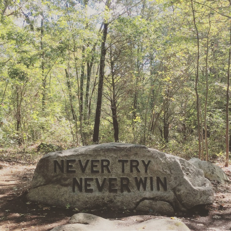 BABSON BOULDERS NEVER TRY NEVER WIN