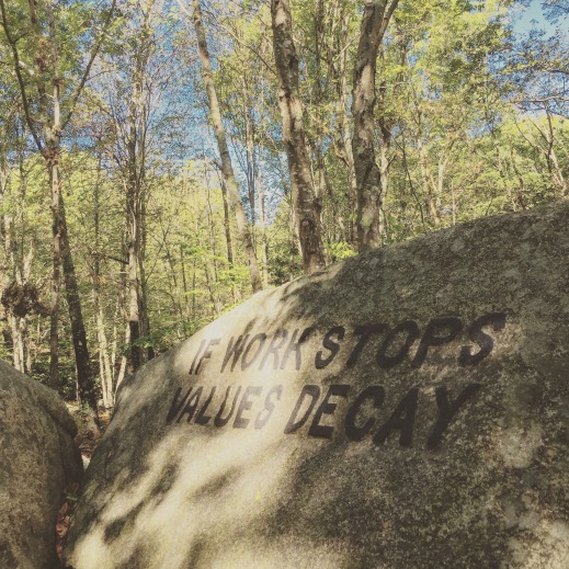 BABSON BOULDERS IF WORK STOPS